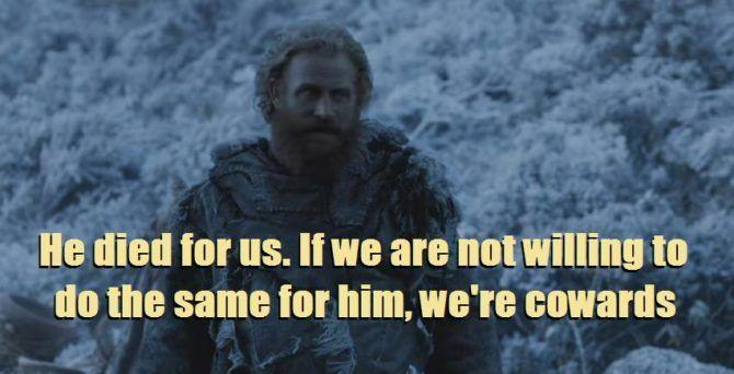 HBO's Game of Thrones Season 6 Episode 7 The Broken Man Tormund speaks