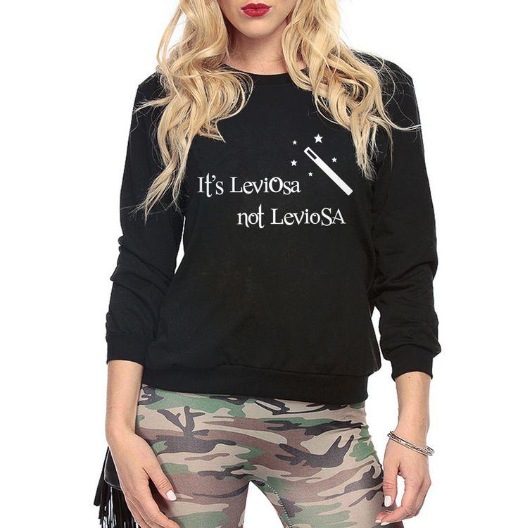 NO ES LEVIOSA LEVIOSA HARRY POTTER MAGIA Hipster sudaderas hoodies de las mujeres ocasionales 2016 otoño divertido harajuku chándal marca en Camisas y Sudaderas de Ropa y Accesorios de las mujeres en AliExpress.com   Alibaba Group