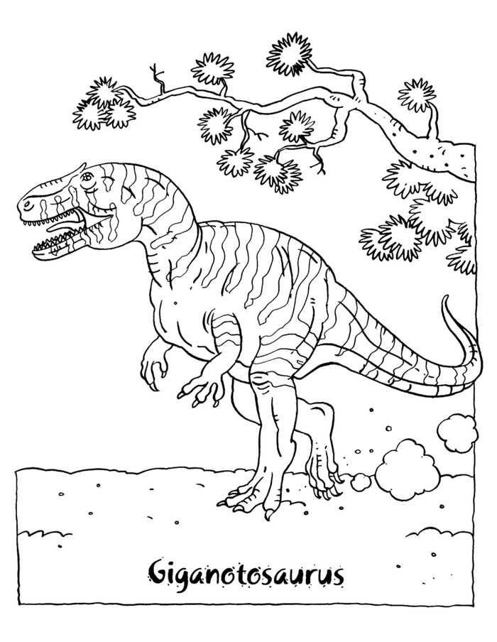 Giganotosaurus Coloring Page Dinosaur Coloring Pages Dinosaur Coloring Animal Coloring Pages
