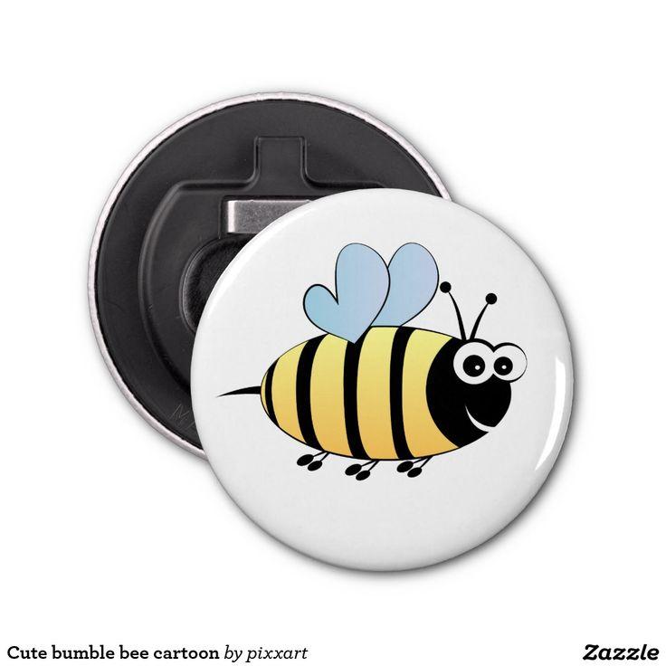 Cute bumble bee cartoon bottle opener