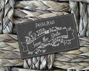 Plaquinha Save the Date tipo Lousa