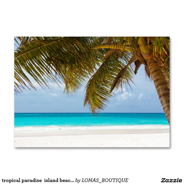 Tropical Paradise Island Beach Water Sand Surf Large Business Card Caribbean Islands Vacation Island Vacation Island Beach