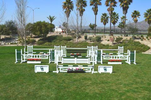 Jumps West   Hunter Courses Made of Quality PVC and Wood