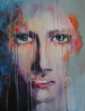 "Saatchi Art Artist Anna Maria Matykiewicz; Painting, ""Rain"" #art #painting #saatchiart #oil #expressionism #impressionism"
