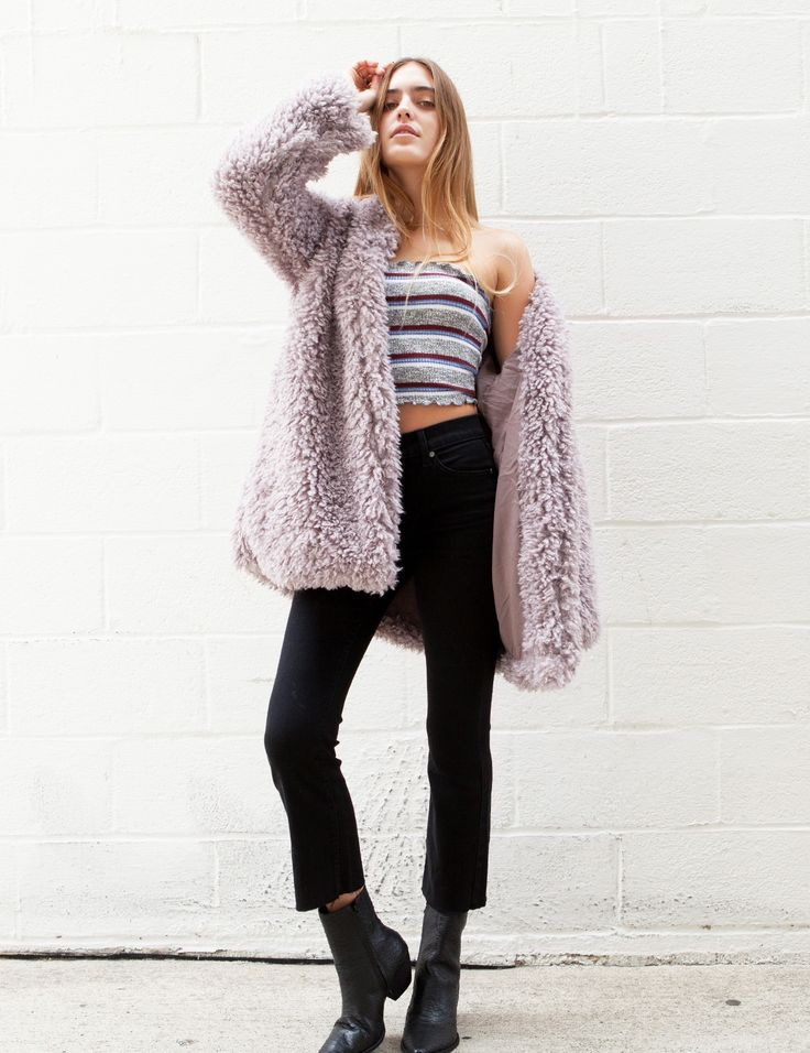 Reve grey Over size fit  Fuzzy Coat