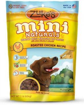 Pouch of Zukes dog treats on white bg