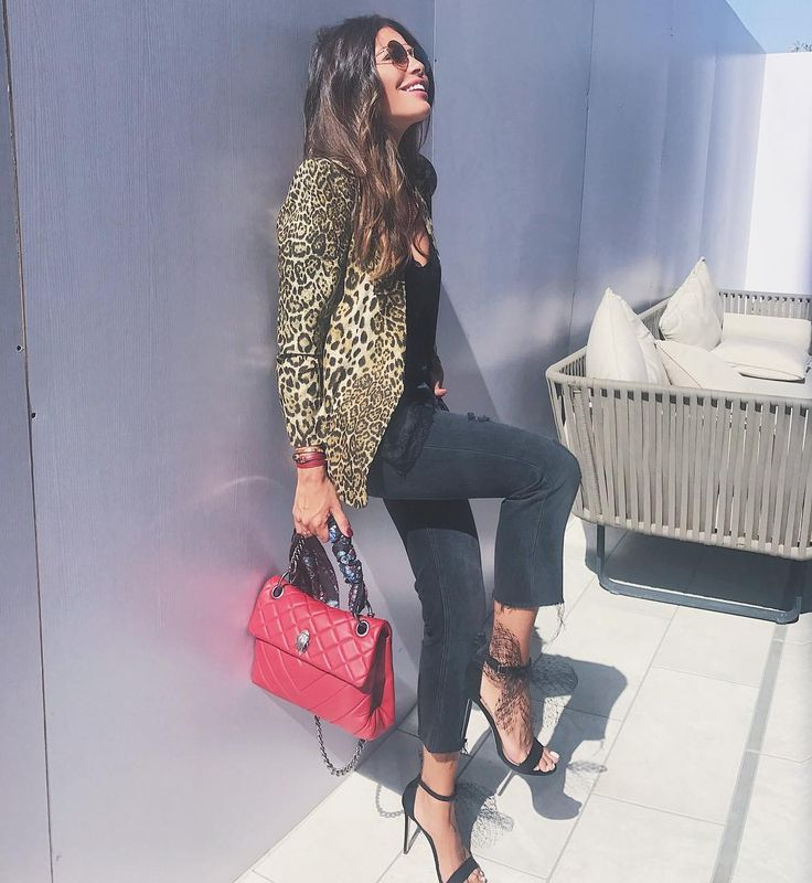 "8,270 Likes, 76 Comments - Alanoud Badr (@fozaza) on Instagram: ""Chillin in my lacy leopard @ladyfozazaofficial with #houseofbazaar & #kurtgeiger heels & bag"""