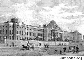 """Bethlem Royal Hospital in London. Bethlem, the world's oldest institution specializing in the mentally ill, started admitting unbalanced patients in 1357. Throughout most of its history the conditions in the asylum were atrocious. For example, in the 18th century the public could pay a penny for the privilege of watching the """"freaks""""; they were even permitted to poke the caged patients with"""