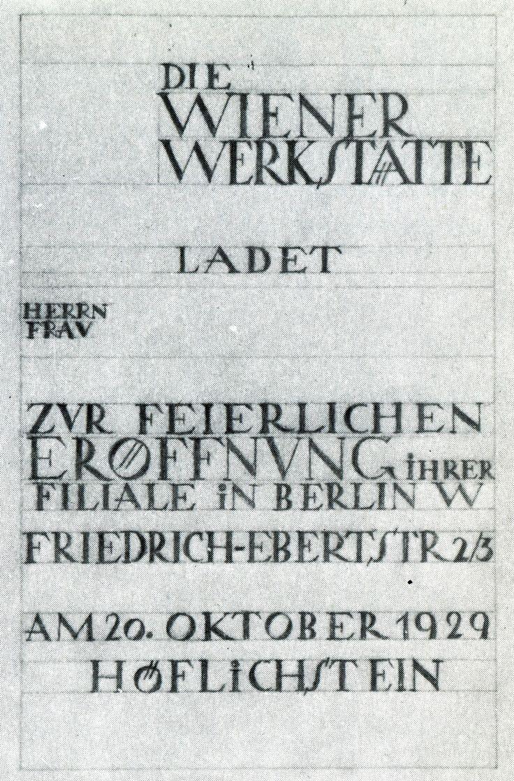 Type sketches for Wiener Werkstätte, 1903-1932. FromWiener Werkstatte: Design in Vienna 1903-1932 by Christian Brandstaetter
