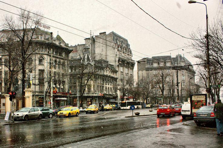 It's snowing in Bucharest by minm01.deviantart.com on @deviantART