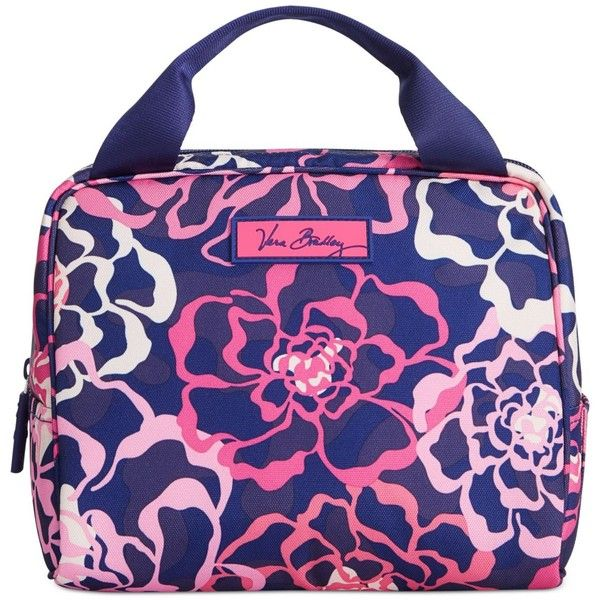Vera Bradley Lighten Up Lunch Cooler ($34) ❤ liked on Polyvore featuring home, kitchen & dining, food storage containers, katalina pink, lunch sack, pink lunch bag, lunch bag, vera bradley lunch sack and vera bradley