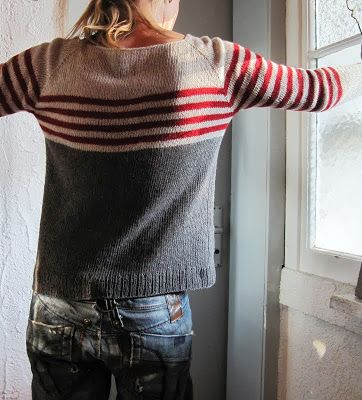 Knitting Pattern Striped Sweater : Grasflecken: knitting pattern // this one is either a ...