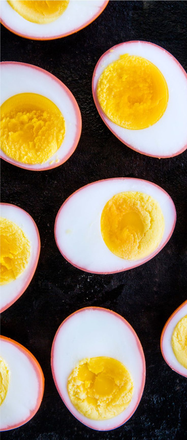 Beet-Pickled Eggs. After the beet has given up its color for the eggs, it's a great addition to a salad.