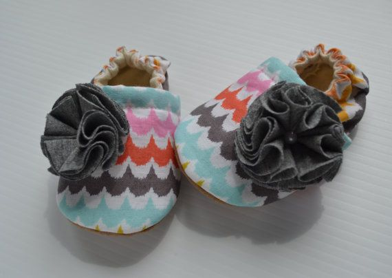 baby girl cloth shoes handmade suede bottoms by fofobaby on Etsy, $17.00
