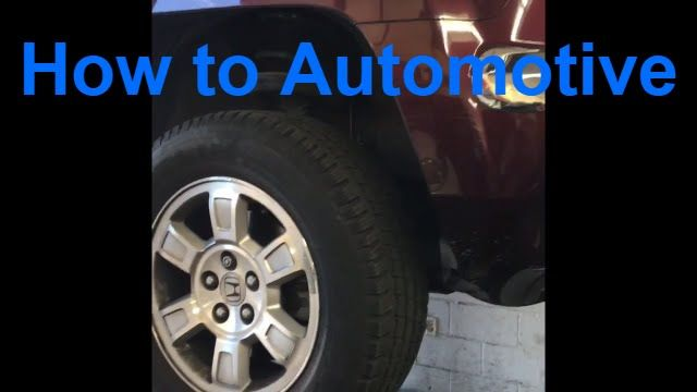 How to Replace Rear Brake Pads and Machine Rotors on a 2007 Honda Ridgel...
