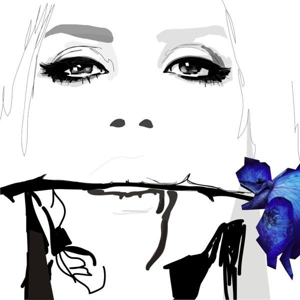 Blue Velvet by Gosia Grochala, via Behance