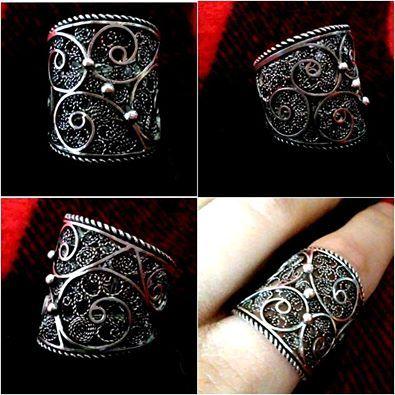 silver filigree ring  https://www.facebook.com/j.filigree?ref=hl