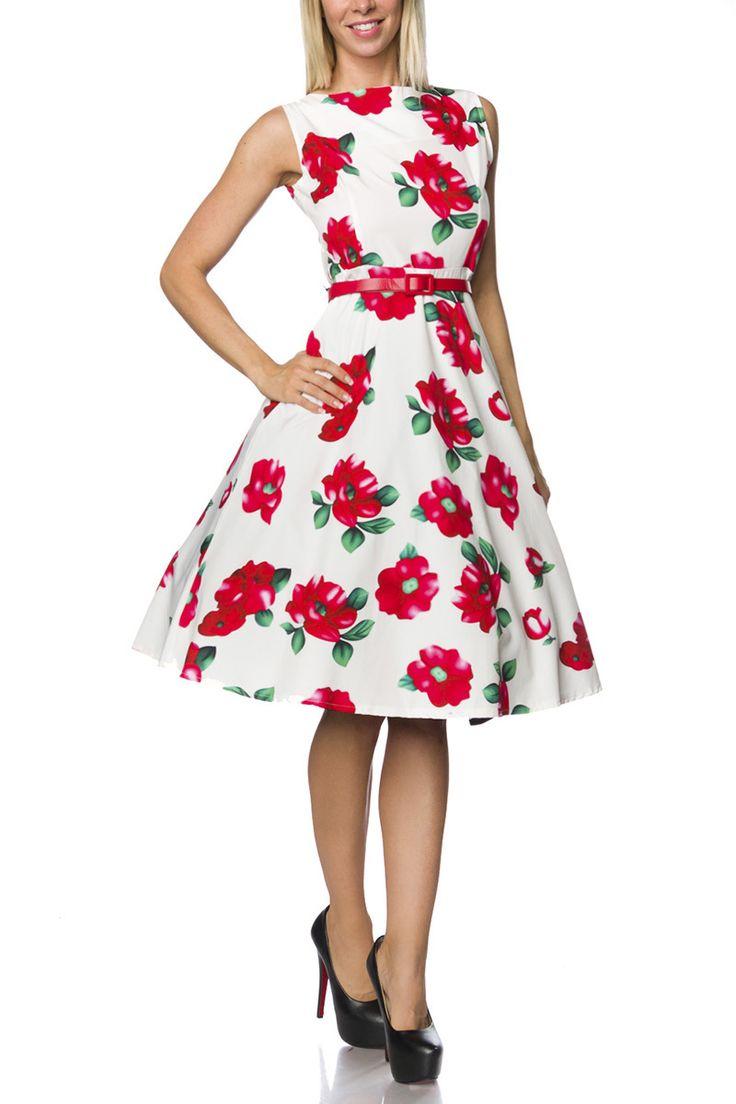 Weisses kleid rot farben