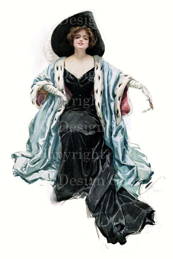 MY QUEEN Harrison Fisher Victorian Lady Image by TheOldDesignShop, $4.00