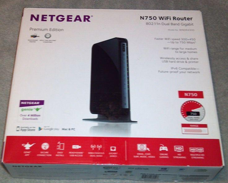 Netgear N750 4-Port Gigabit Wireless N Router PREMIUM EDITION WNDR4300 NEW