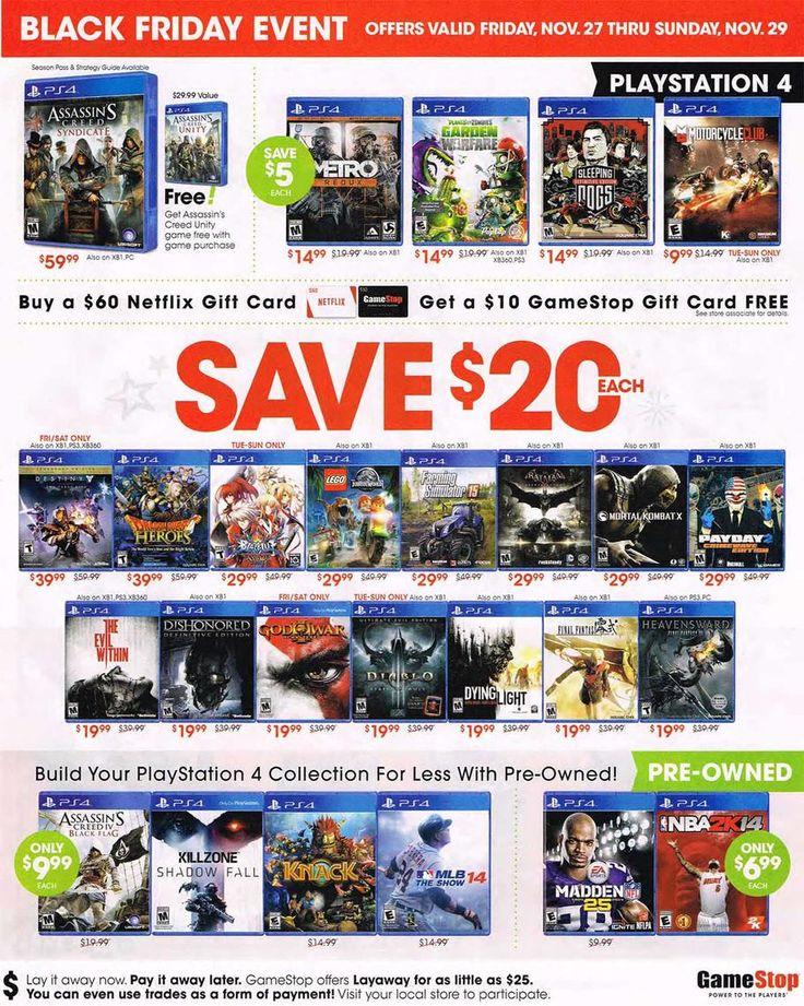 Gamestop black friday 2015 ad deals sales netflix