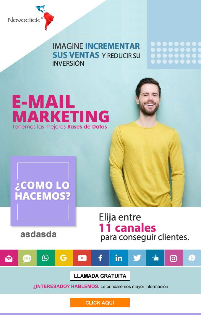 #NOVOCLICK esta con #E-Mail Marketing #IncrementeSusVentas