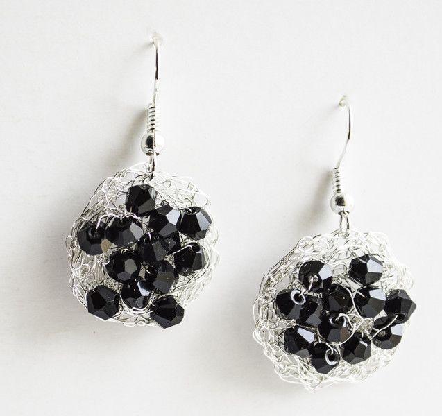Wire+Crochet+Earrings+Dangle+Earring+Crystals+from+Unikacreazioni+by+DaWanda.com