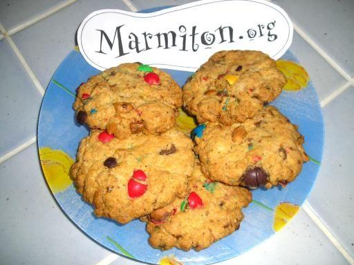 Les Cookies aux M - Recette de cuisine Marmiton : une recette