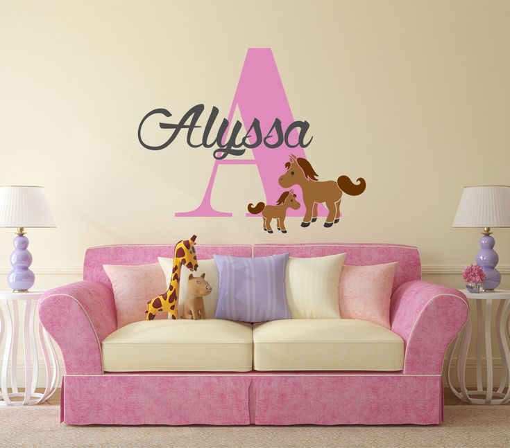 Best Girls Vinyl Wall Decal Images On Pinterest Vinyl Wall - Custom vinyl wall decals for nursery