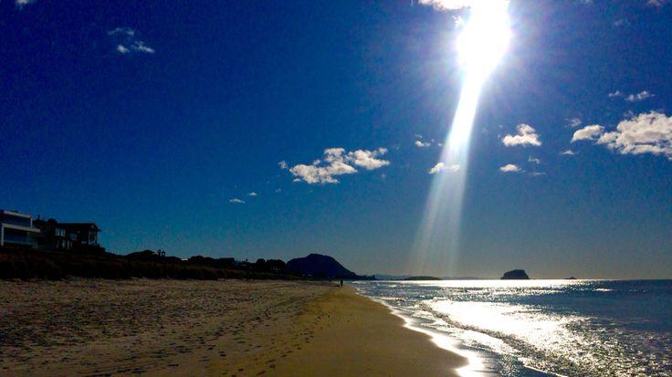 Mt Maunganui from Omanu Beach