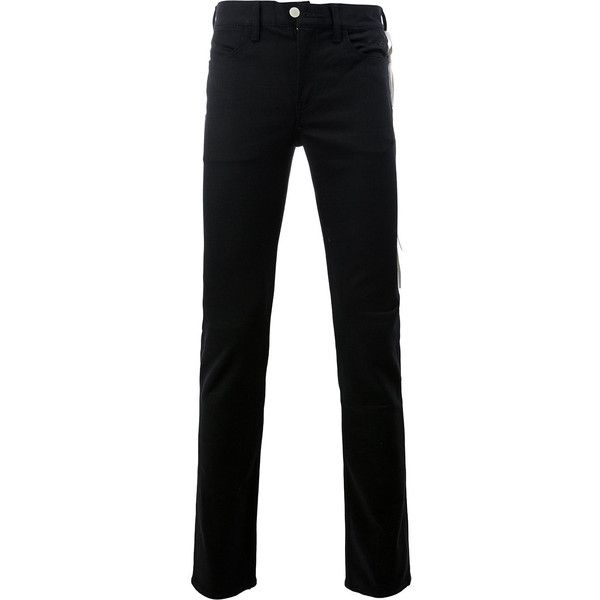 Takahiromiyashita The Soloist skinny trousers (9,665 THB) ❤ liked on Polyvore featuring men's fashion, men's clothing, men's pants, men's casual pants, black, mens skinny leather pants, mens skinny pants and mens leather pants