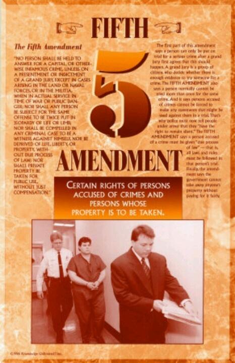5th amendment jurisprudence