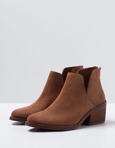 Bershka Israel -Bershka cowboy ankle boots