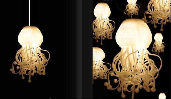 Jellyfish Lighting The Spermatozoi Collection by Dea Luce is Inspired by Nature