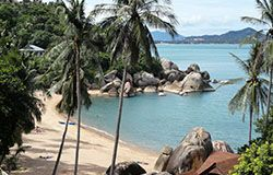 Mae Nam is a beautiful beach on the northern coast