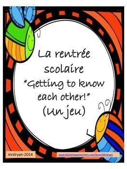 Help your students get to know each other with this 75 task card oral activity!  Students move around the room speaking to each other in French while learning a little about one another.  You decide on the time limit!  Use this activity once for each grade level OR use it over 3 or 4 classes as an oral warm-up for the day.