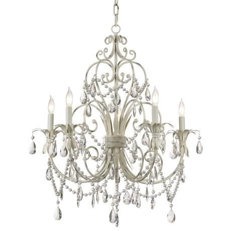 Winterset Collection Antique Cream Five Light Chandelier- kristen and daniella's room