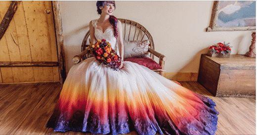 Aujourd'hui, on vous propose de découvrir 24 photos de jolies robes de mariées colorées. Et elles sont sublimes... C'est parti pour la minute mariage !