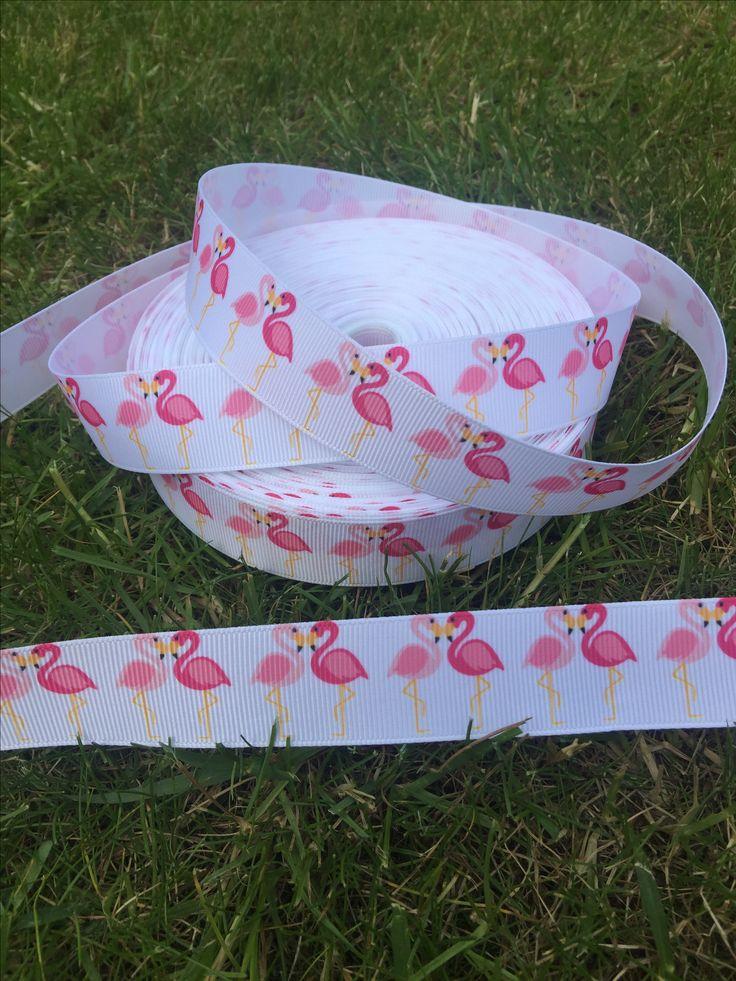 Pretty flamingo love 💗 grosgrain ribbon. 65p per metre 💗