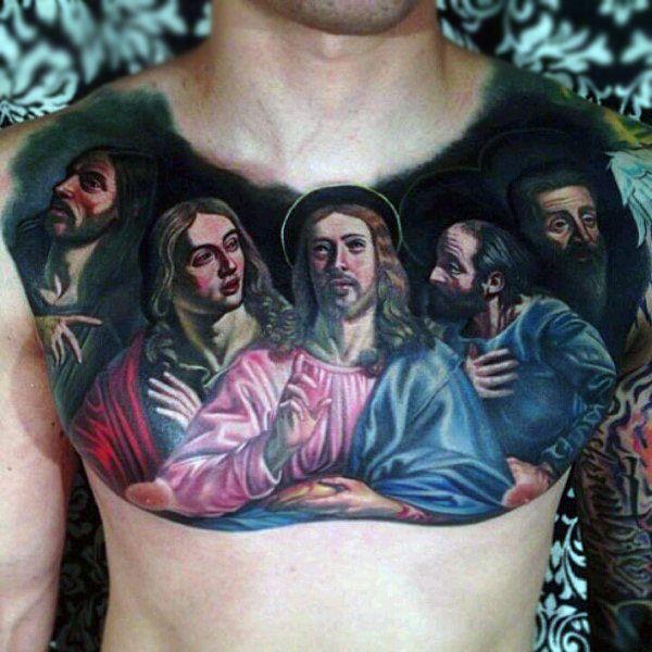 40 Last Supper Tattoo Designs For Men Christian Ink Ideas Nikko Hurtado Tattoos Cool Chest Tattoos