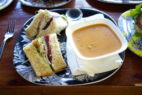Primal Soup Co., - Turkey Sandwich and Tomato Basil Soup - Healthy Dine Out