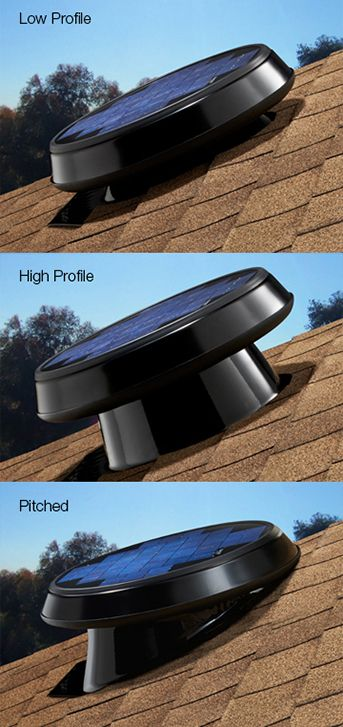 The Solar Star Attic Fan can be placed multiple ways. #ilovedaylight #Solatube
