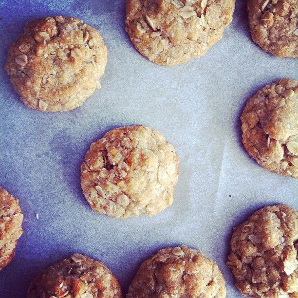 Honeyed Anzac Biscuits