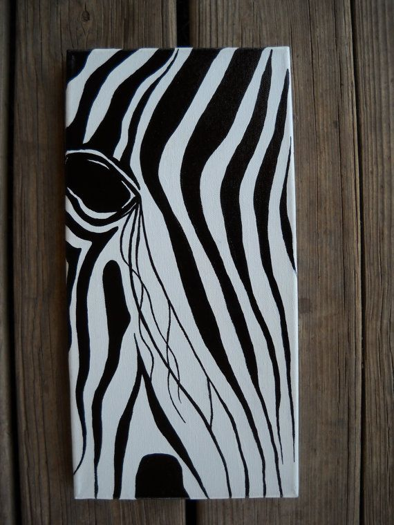 Zebra Painting by ThePurpleManikin on Etsy, $50.00