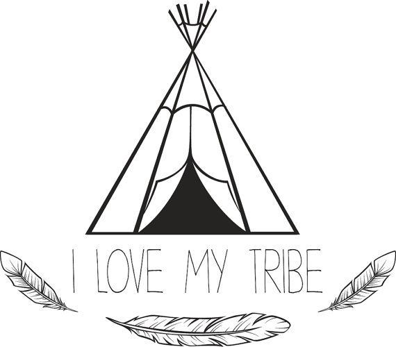 Download I Love My Tribe Print // by Aliceandivory on Etsy | Clip ...