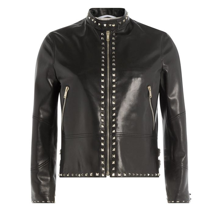 Women Rock Punk Silver Studded leather Jacket,Women Fashion leather jacket - Outerwear