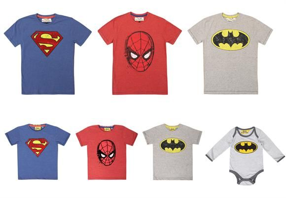 Superhero baby costumes