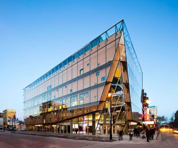 Le 2-22 by Aedificia.  Double Skin Facade - Retractable Glass Outer Skin, timber facade beneath for summer