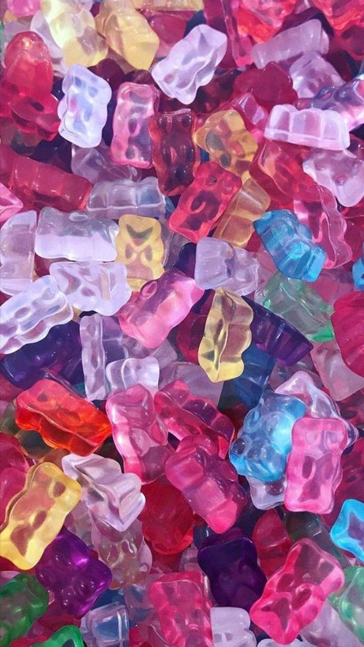foto de Gominolas de colores en tonos cálidos Fondos de