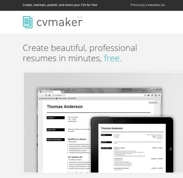 create beautiful professional resumes in minutes with cv maker - Professional Resume Maker